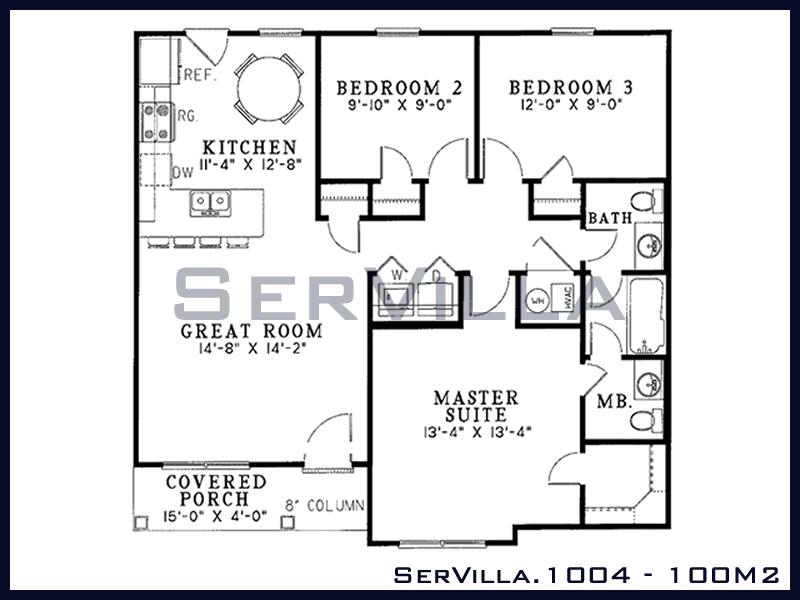 100 m2 Çelik Konstrüksiyon Villa Modeli 4