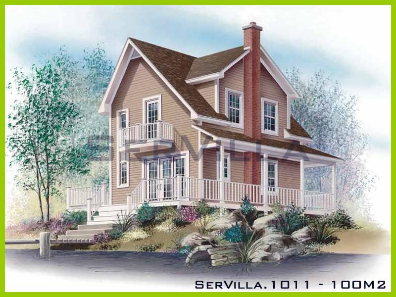 100 m2 Çelik Konstrüksiyon Villa Modeli 11