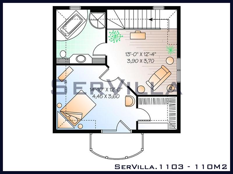 110 m2 Çelik Konstrüksiyon Villa Modeli 3