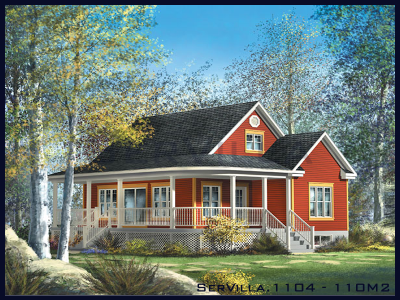 110 m2 Çelik Konstrüksiyon Villa Modeli 4