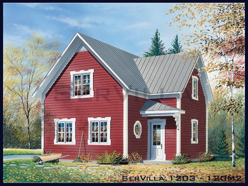 120 m2 Çelik Konstrüksiyon Villa Modeli 3
