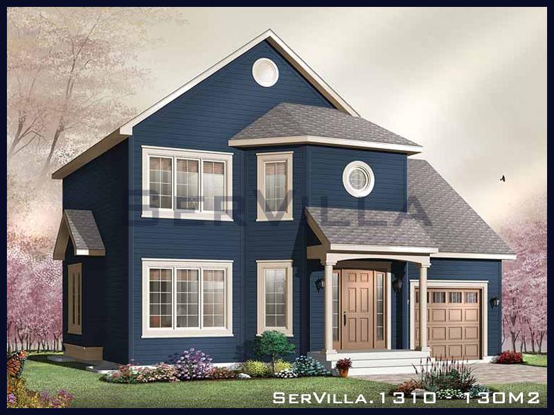 130 m2 Çelik Konstrüksiyon Villa Modeli 10