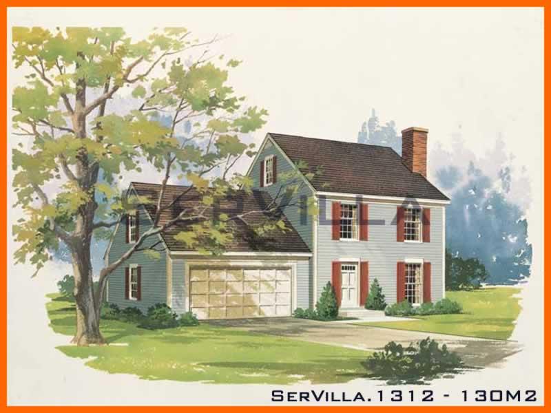 130 m2 Çelik Konstrüksiyon Villa Modeli 12