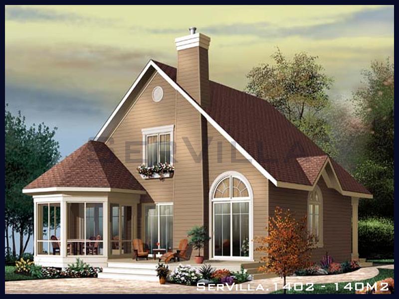 140 m2 Çelik Konstrüksiyon Villa Modeli 2