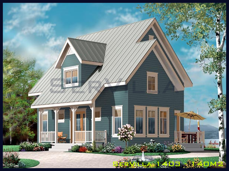 140 m2 Çelik Konstrüksiyon Villa Modeli 3