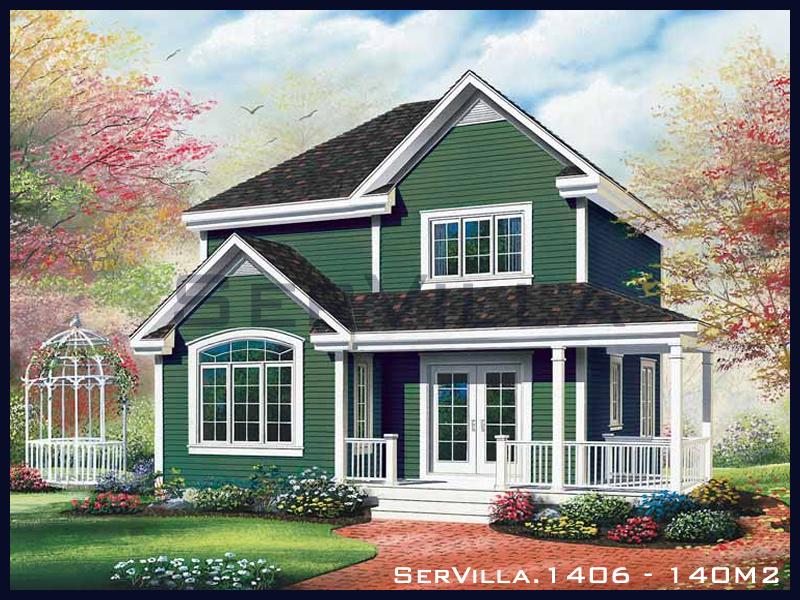 140 m2 Çelik Konstrüksiyon Villa Modeli 6