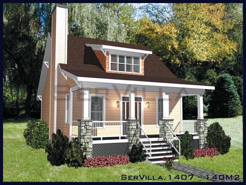 140 m2 Çelik Konstrüksiyon Villa Modeli 7
