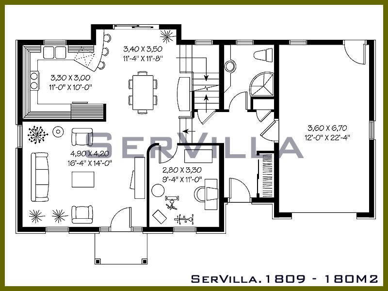 180 m2 Çelik Konstrüksiyon Villa Modeli 9