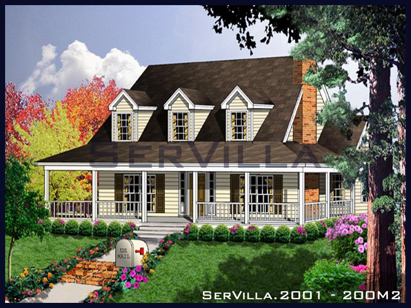 200 m2 Çelik Konstrüksiyon Villa Modeli 1