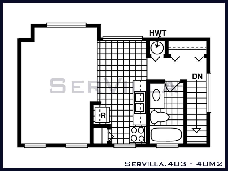 40 m2 Çelik Konstrüksiyon Villa Modeli 3