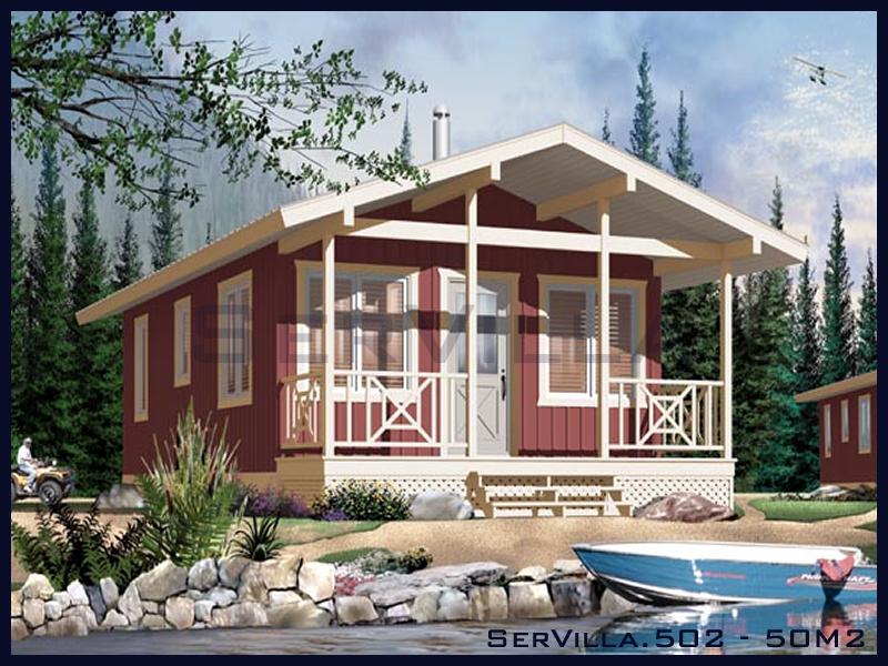 50 m2 Çelik Konstrüksiyon Villa Modeli 2