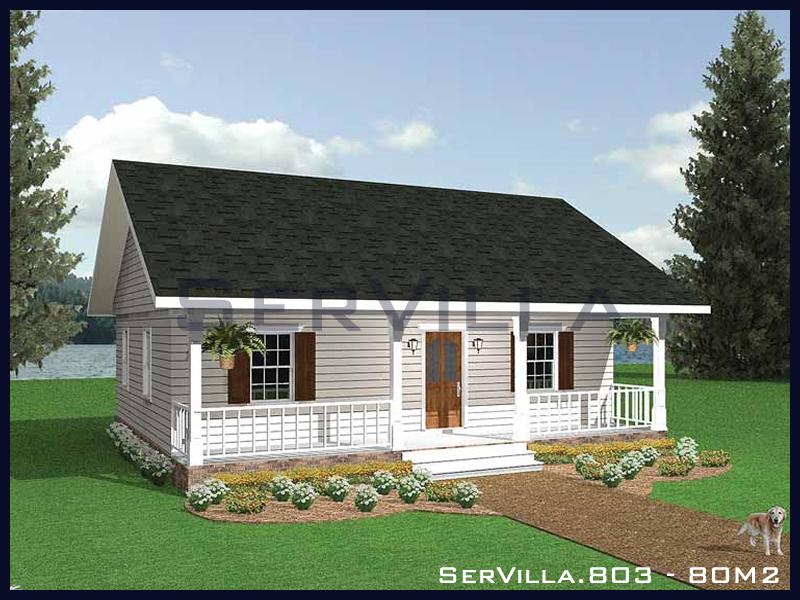 80 m2 Çelik Konstrüksiyon Villa Modeli 3