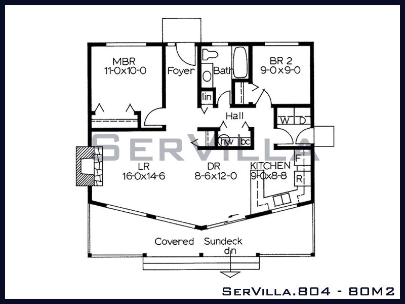 80 m2 Çelik Konstrüksiyon Villa Modeli 4