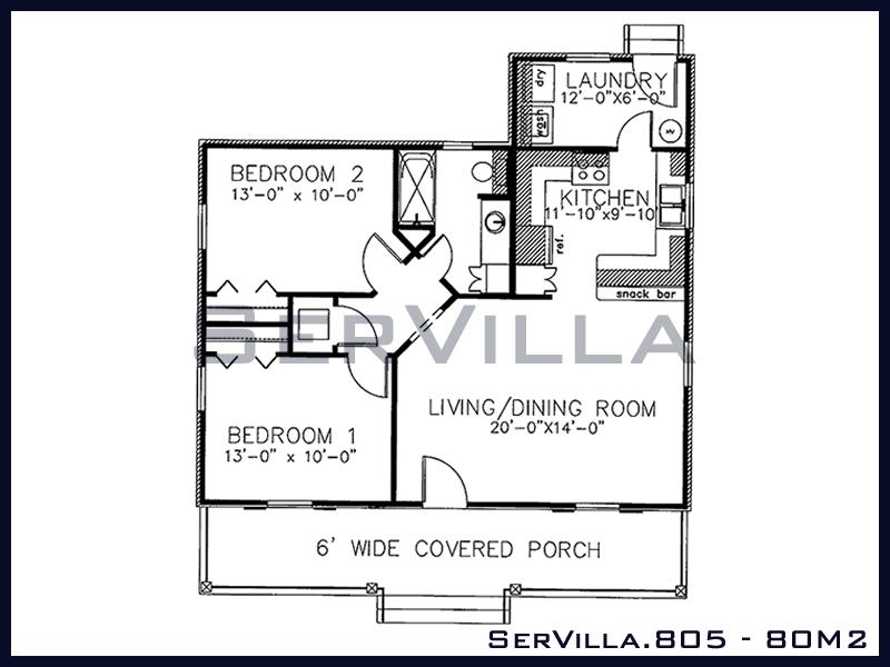 80 m2 Çelik Konstrüksiyon Villa Modeli 5