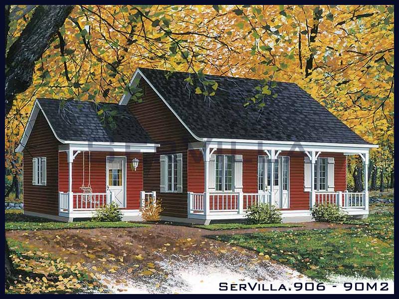 90 m2 Çelik Konstrüksiyon Villa Modeli 6