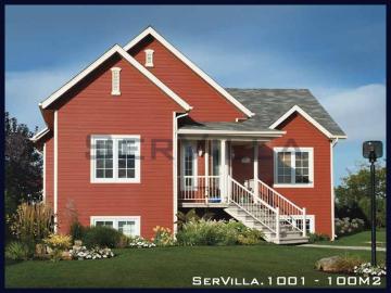 100 m2 Çelik Konstrüksiyon Villa Modeli 1