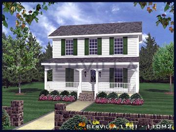 110 m2 Çelik Konstrüksiyon Villa Modeli 1