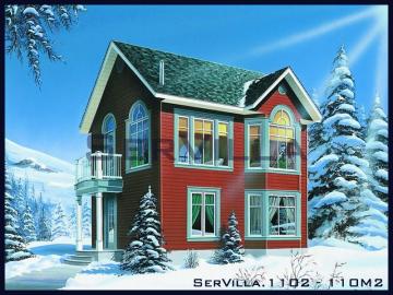 110 m2 Çelik Konstrüksiyon Villa Modeli 2