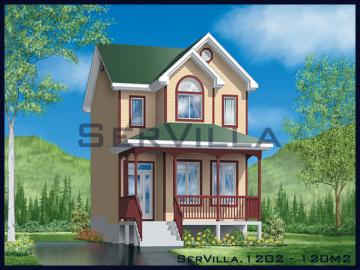 120 m2 Çelik Konstrüksiyon Villa Modeli 2