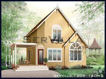 120 m2 Çelik Konstrüksiyon Villa Modeli 9