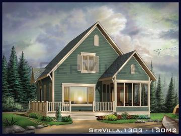 130 m2 Çelik Konstrüksiyon Villa Modeli 3