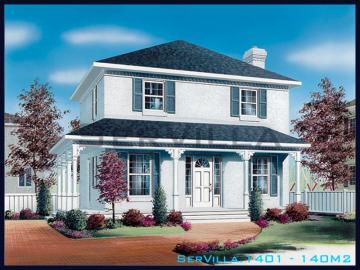 140 m2 Çelik Konstrüksiyon Villa Modeli 1