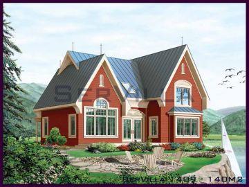 140 m2 Çelik Konstrüksiyon Villa Modeli 9