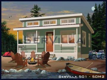 50 m2 Çelik Konstrüksiyon Villa Modeli 1