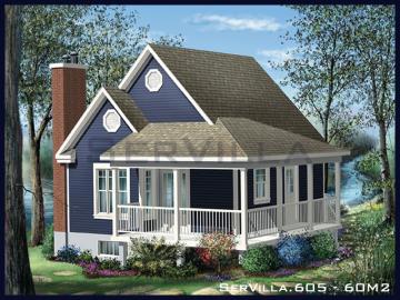 60 m2 Çelik Konstrüksiyon Villa Modeli 5
