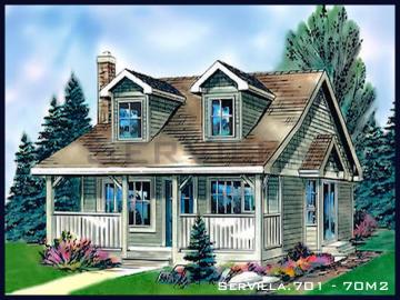 70 m2 Çelik Konstrüksiyon Villa Modeli 1