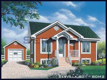 80 m2 Çelik Konstrüksiyon Villa Modeli 1