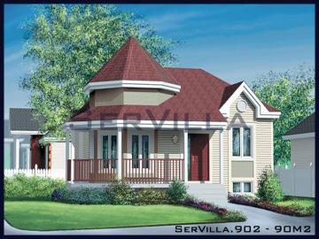 90 m2 Çelik Konstrüksiyon Villa Modeli 2