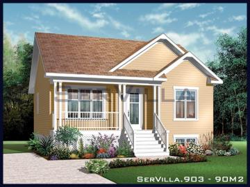90 m2 Çelik Konstrüksiyon Villa Modeli 3